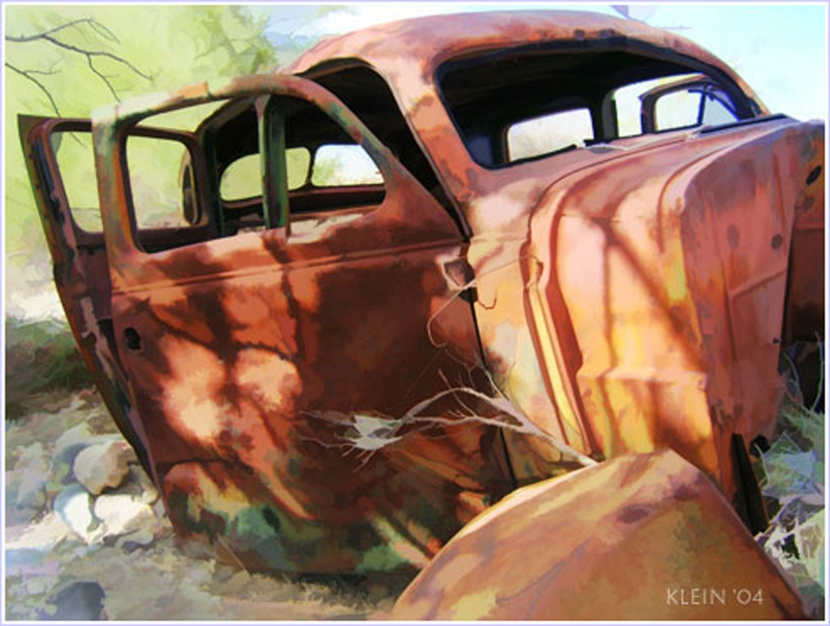 Rusted Car Painting