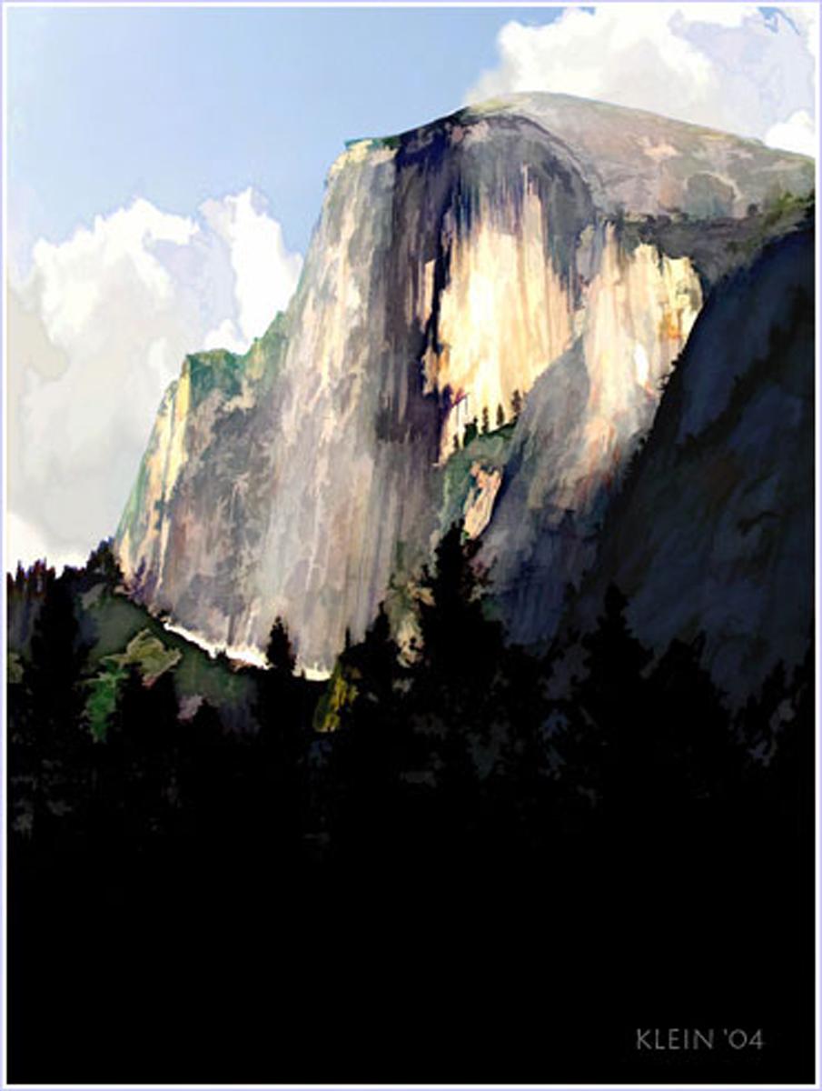 Halfdome Painting Yosemite
